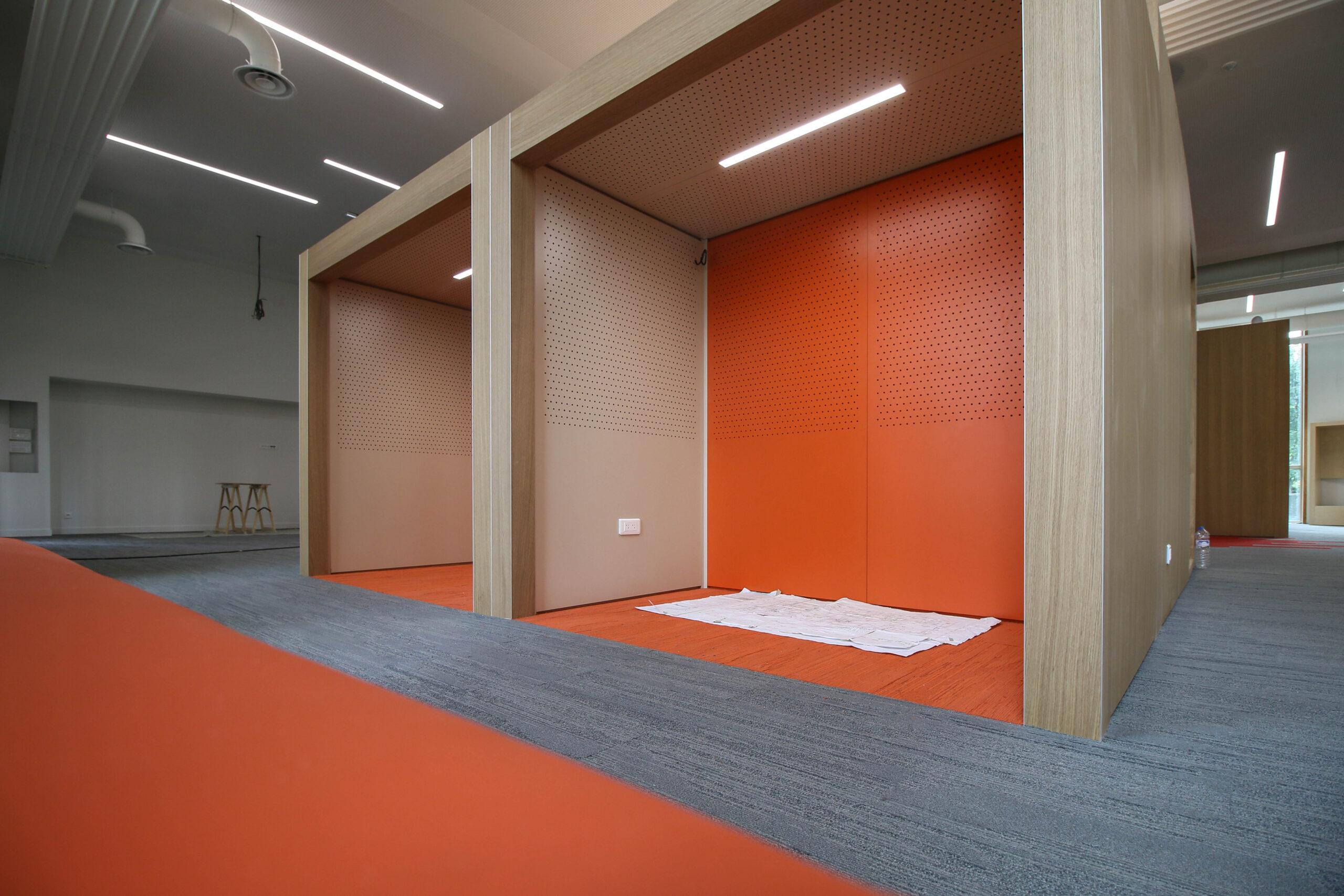 Rez-de-chaussée de l'aile Sud : espaces individuels (septembre 2020)